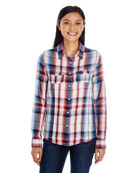 Burnside B5222 Ladies Plaid Pattern Woven