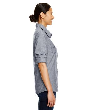 Burnside B5255 Chambray Woven Shirt