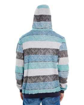Burnside B8603 Mens Printed Stripe Marl Pullover