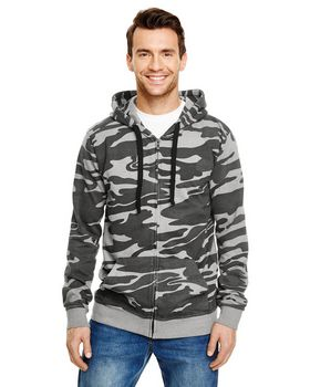 Burnside B8615 Adult Full-Zip Camo Hoodie