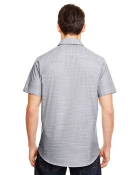 Burnside B9247 Mens Textured Woven Shirt
