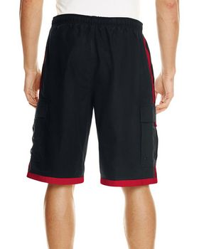 Burnside B9401 Mens Striped Swim Short