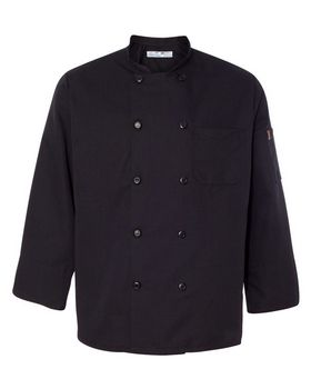 Chef Designs 0425 Ten Pearl Button Black Chef Coat