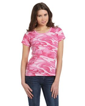 Code Five 3665 Ladies Fine Jersey Camouflage T-Shirt