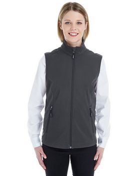 Core365 CE701W Ladies Fleece Bonded Soft Shell Vest