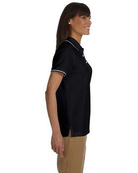 Devon & Jones D113W Ladies Pima Pique Tipped Polo