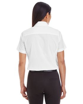 Devon & Jones D620SW Ladies Crown Collection Solid Broadcloth Short-Sleeve Shirt