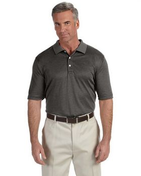 Devon & Jones DG210 Mens Pima-Tech Jet Pique Heather Polo