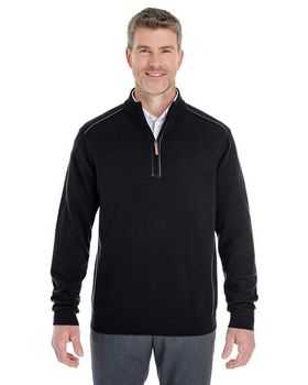 Devon & Jones DG478 Mens Fully-Fashioned Half-Zip Sweater
