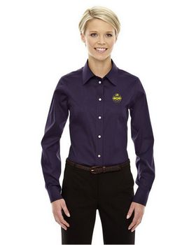 Devon & Jones DG530W Ladies Crown Collection Solid Stretch Twill Shirt