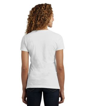 District DM1190L Ladies Perfect Blend V Neck Tee