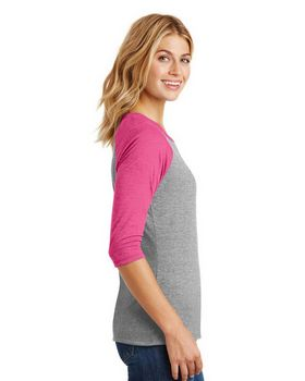 District DM136L Ladies Sleeve Raglan