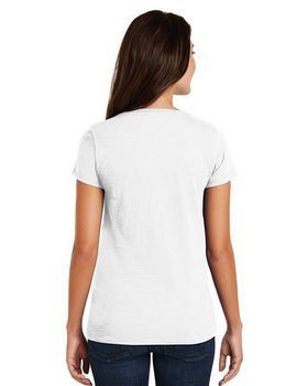 District Made DM3501 Ladies Slub V-Neck Tee