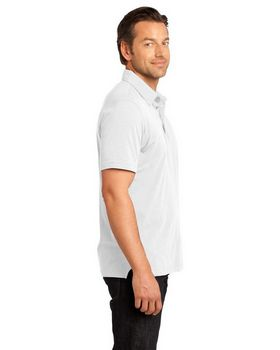 District DM350 Mens Slub Polo
