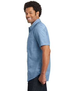 District DM3810 Mens Woven Shirt