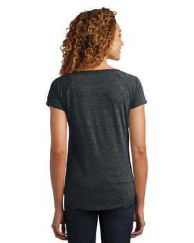 District Made DM443 Ladies Tri Blend Scoop Tee