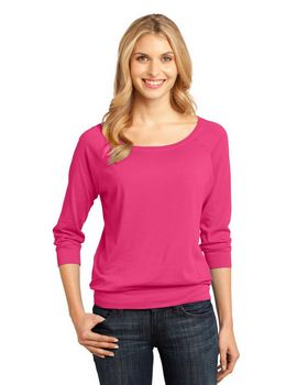 District DM482 Ladies 3/4-Sleeve Raglan