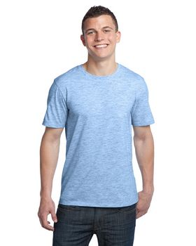 District DT1000 Young Mens Extreme Heather Crew Tee