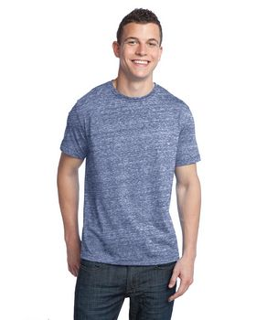 District DT142 Young Mens Tri-Blend Crew Neck Tee