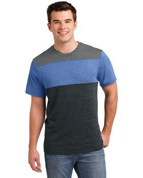 District DT143 Young Mens Tri-Blend Crewneck Tee