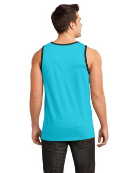 District DT1500 Young Mens Cotton Ringer Tank