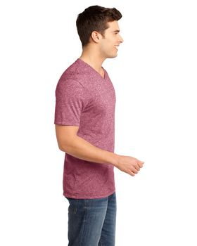 District DT161 Young Mens Microburn V-Neck Tee