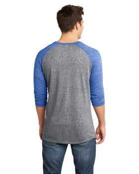 District DT162 Young Mens Microburn Raglan Tee