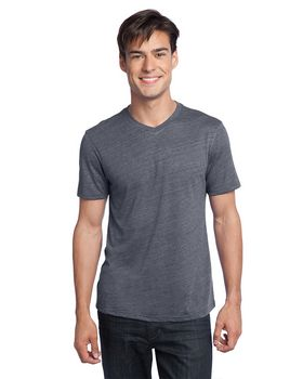 District DT172 Young Mens Textured Notch Crew Tee