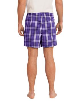 District Mens Young Flannel Plaid Boxer XS Deep Royal