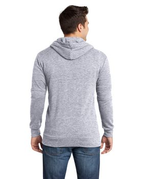 District DT190 Young Mens Core Fleece Full Zip Hoodie