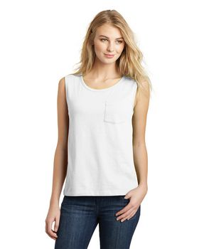 District DT4301 Juniors Vintage Wash Muscle Tank