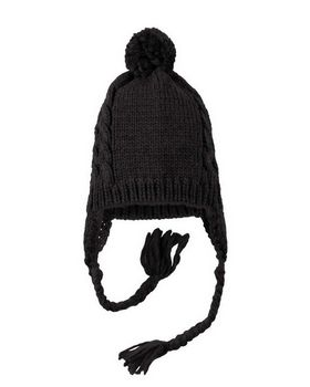 District DT617 Cabled Beanie with Pom