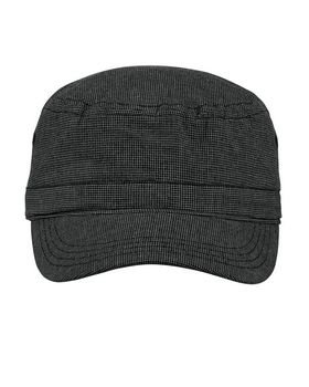District DT619 Houndstooth Military Hat - Shop at ApparelnBags.com