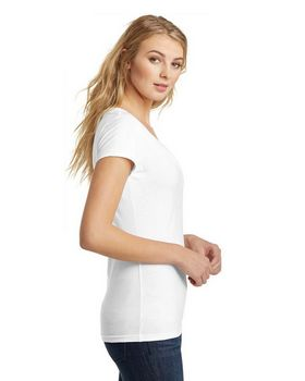 District DT6502 Juniors Very Important Deep V-Neck Tee