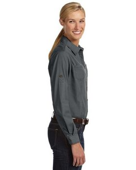 Dri Duck 8284 Ladies Long-Sleeve Mortar Workshirt