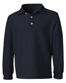 French Toast A9085 Boys Long Sleeve Pique Polo