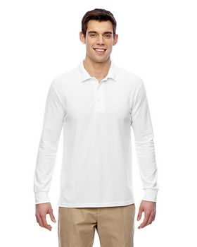 Gildan G729 Double Pique Long-Sleeve Polo