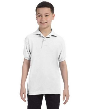 Hanes Stedman 054Y Youth 50/50 Jersey Knit Polo