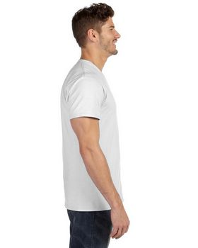 Hanes 498V 100% Ringspun Cotton V Neck T Shirt
