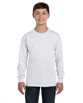 Hanes 5546 Youth Tagless Long Sleeve T Shirt