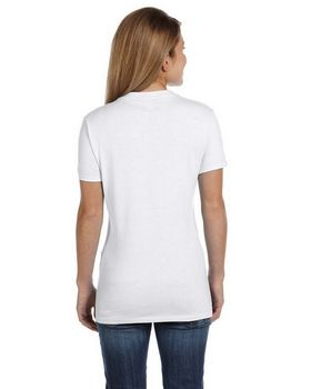 Hanes S04V Ladies 100% Cotton nano T Shirt