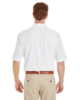 Harriton M200P Adult Pique Short-Sleeve Pocket Polo