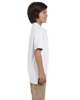Harriton M200Y Youth Ringspun Cotton Pique S-Sleeve Polo