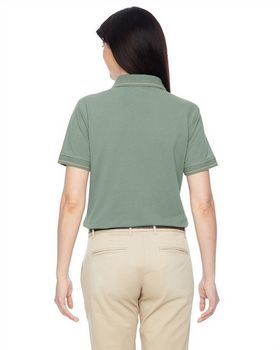 Harriton M270W Ladies Tipped Easy Blend Polo