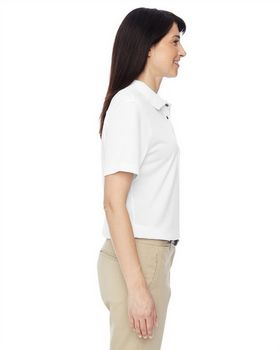 Harriton M345W Ladies Advantage IL Snap Placket Polo