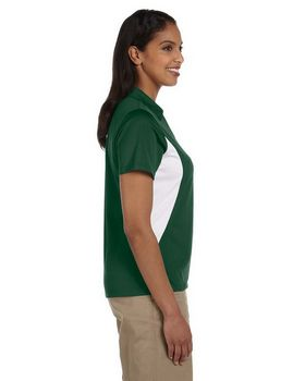 Harriton M355W Ladies Side Blocked Micro Pique Polo