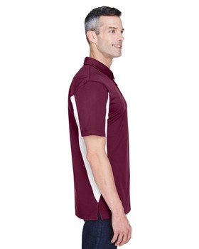 Harriton M355 Men's Side Blocked Micro-Pique Polo
