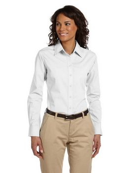 Harriton M510W Ladies Value Poplin Shirt