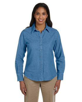 Harriton M550W Ladies Denim Shirt