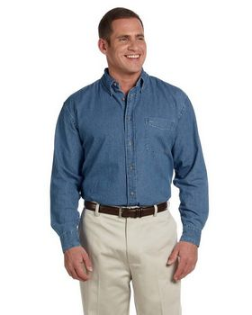 Harriton M550 Mens Denim Shirt